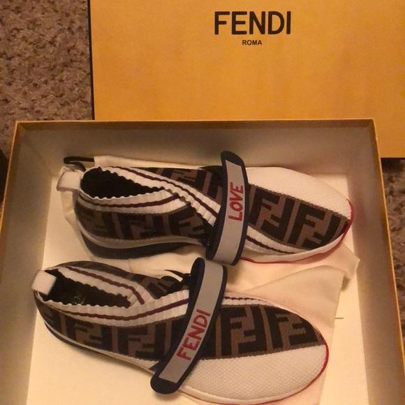 Shoes | Fendi Rockoko Knit Sneakers